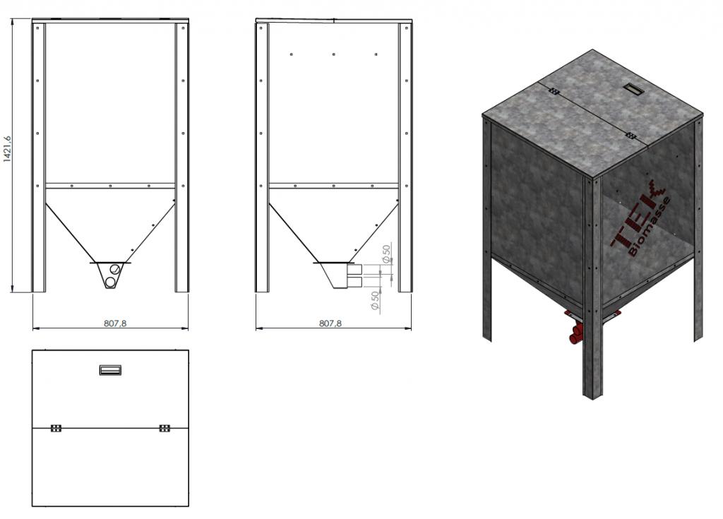 Silo+desenhos técnicos da TEK Biomasse